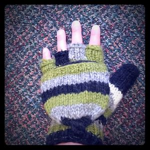 Hand knitted gloves!